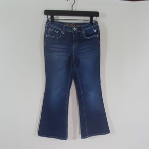Justice girls blue bootcut jeans super hip 8.5